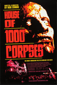 """House of 1000 Corpses & Others Lot (Lions Gate, 2003). One Sheets (4) (27"""" X 40""""). SS. Horror. ... (To..."""