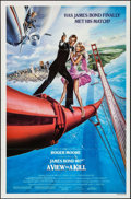 "Movie Posters:James Bond, A View to a Kill (United Artists, 1985). One Sheet (27"" X 41""). James Bond.. ..."
