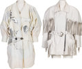 Music Memorabilia:Costumes, A Connie Francis Pair of White Leather Jackets, 1980s.... (Total: 2)