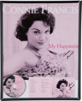 Music Memorabilia:Posters, A Connie Francis Group of Signed Posters, Circa 2000s.... (Total: 6)