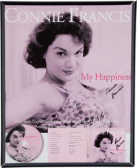 A Connie Francis Group of Signed Posters, Circa 2000s