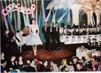 "A Connie Francis-Owned Mixed Media Painting by Yaacov Heller Titled ""Opening Night,"" Circa 1990s"