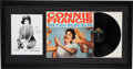 Music Memorabilia:Recordings, A Connie Francis Signed Black and White Photograph and AlbumDisplay, Circa 1959, 2000s....