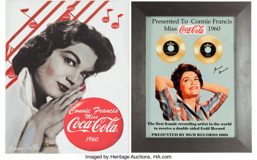 A Connie Francis Pair of Color Images Related to Being 'Miss | Lot