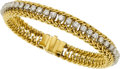 Estate Jewelry:Bracelets, Diamond, Gold Bracelet, Hammerman Bros.. ...