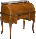 Furniture : French, A Louis XV-Style Parquetry and Bronze-Mounted Cylinder Bureau withTwo Hidden Compartments, late 19th-early 20th century. 43...(Total: 2 Items)