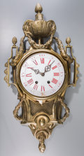 Timepieces:Clocks, A French Louis Phillipe Gilt Bronze Cartel Clock, 19th century. Marks to movement: JAPY FRERES & CIE, MED. D'HONN. 26-1/...