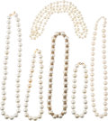 Music Memorabilia:Costumes, A Connie Francis Collection of Faux 'Big Pearl' Necklaces, Circa 1970s-1980s.... (Total: 6 )