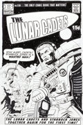 """Original Comic Art:Illustrations, Paul Gulacy Funky Winkerbean """"Lunar Cadets #138 Cover""""Illustration Original Art dated 4-3-16 (North American Synd..."""