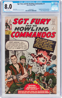 Sgt. Fury and His Howling Commandos #1 (Marvel, 1963) CGC VF 8.0 Off-white pages