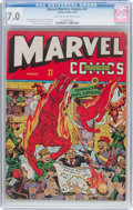 Golden Age (1938-1955):Superhero, Marvel Mystery Comics #41 (Timely, 1943) CGC FN/VF 7.0 Light tan to off-white pages....