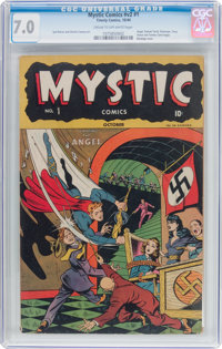 Mystic Comics V2#1 (Timely, 1944) CGC FN/VF 7.0 Cream to off-white pages