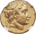 Ancients:Greek, Ancients: SELEUCID EMPIRE. Seleucus II Callinicus (246-225 BC). AV stater (18mm, 8.51 gm, 2h). NGC Choice AU 4/5 - 3/5, edge marks....