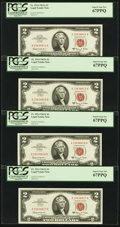 Small Size:Legal Tender Notes, Fr. 1514 $2 1963A Legal Tender Notes. Nine Consecutive Examples. PCGS Superb Gem New 67PPQ.. ... (Total: 9 notes)
