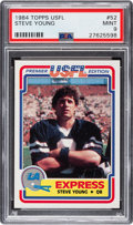 Football Cards:Singles (1970-Now), 1984 Topps USFL Steve Young #52 PSA Mint 9....