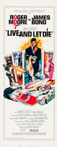 "Movie Posters:James Bond, Live and Let Die (United Artists, 1973). Insert (14"" X 36"") RobertMcGinnis Artwork.. ..."