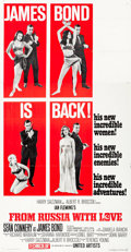 "Movie Posters:James Bond, From Russia with Love (United Artists, 1964). Three Sheet (41"" X79"") Style B.. ..."