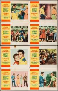 """Loving You (Paramount, 1957). Lobby Card Set of 8 (11"""" X 14""""). ... (Total: 8 Items)"""