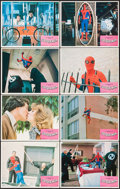 """Movie Posters:Action, Spider-Man (Columbia, 1977). Lobby Card Set of 8 (11"""" X 14"""").Action.. ... (Total: 8 Items)"""