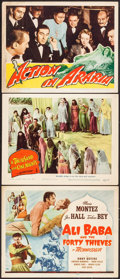 "Movie Posters:Fantasy, Ali Baba and the Forty Thieves & Others Lot (Universal, 1944). Title Lobby Card & Lobby Cards (2) (11"" X 14""). Fantasy.. ... (Total: 3 Items)"