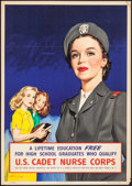 "Movie Posters:War, World War II Propaganda (U.S. Government Printing Office, 1945).Cadet Nurse Corps Recruitment Poster (Approx. 18.25"" X 26"")..."