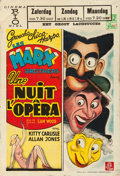 "Movie Posters:Comedy, A Night at the Opera (MGM, R-Mid 1940s). Belgian (11"" X 16"").. ..."
