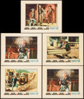 "Movie Posters:Western, Rio Bravo (Warner Brothers, 1959). Lobby Cards (5) (11"" X 14""). Western.. ... (Total: 5 Items)"
