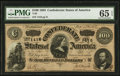 Confederate Notes:1864 Issues, Fully Framed T65 $100 1864.. ...