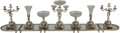 Silver Holloware, Continental:Holloware, An Eight-Piece Banquet-Sized Silver-Plated and Cut-Glass Surtoutde Table with Elephant Motif, Sheffield, circa ... (Total: 12Items)