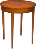 Furniture : English, A Hepplewhite-Style Satinwood and Mahogany Inlaid Side Table, 19th century. 28 inches high x 24 inches wide (71.1 x 61.0 cm)...