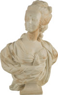 Decorative Arts, French:Other , A Carved Carrara Marble Bust of Marie Antoinette, late 19th-early20th century. 26-1/4 inches high (66.7 cm). ...
