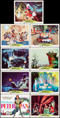 "Movie Posters:Animation, Peter Pan (Buena Vista, R-1969). Lobby Card Set of 9 (11"" X 14"").Animation.. ... (Total: 9 Items)"