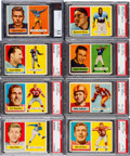 Football Cards:Sets, 1957 Topps Football Complete Set (154). ...