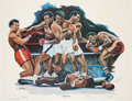"Boxing Collectibles:Autographs, 1978-79 Muhammad Ali Twice Inscribed & Signed ""Triple Crown""Poster...."