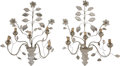 Decorative Arts, Continental:Other , A Pair of Bagues-Style Four-Light Rock Crystal Wall Sconces .30-1/2 inches high x 20 inches wide (77.5 x 50.8 cm). ... (Total: 2Items)