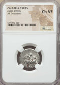 Ancients:Greek, Ancients: CALABRIA. Tarentum. Ca. 272-240 BC. AR stater ordidrachm. NGC Choice VF. ...