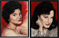 "Music Memorabilia:Original Art, A Connie Francis-Owned Pair of Acrylic Paintings by Yaacov HellerTitled ""Heartaches"" and ""Portrait of a Star,"" Circa 1990s....(Total: 2 Items)"