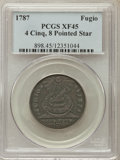 Colonials, 1787 FUGIO Fugio Cent, STATES UNITED, Eight-Pointed Stars, XF45 PCGS. N. 15-Y, W-6915, R.2....