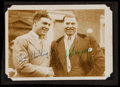 Boxing Collectibles:Autographs, Jack Dempsey and W.L. Stribling Multi-Signed Sepia Photograph....