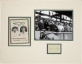 Autographs:U.S. Presidents, Calvin Coolidge Signature with an Official Scorecard and Photographof Coolidge at Game Three of the 1925 World Series....