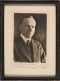 Autographs:U.S. Presidents, Calvin Coolidge Signed Photograph....