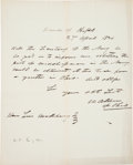 Autographs:Statesmen, William Allen Autograph Letter to Secretary of the Navy Signed...