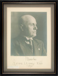 Photography:Signed, Benito Mussolini Signed Photograph....