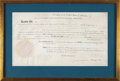 Autographs:U.S. Presidents, Thomas Jefferson Land Patent Signed...