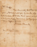 Autographs:Military Figures, Lord Horatio Nelson Autograph Letter Signed...