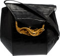 Music Memorabilia:Costumes, A Connie Francis Black Alligator Handbag, Circa 1980s....