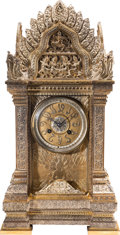 Music Memorabilia:Memorabilia, A Connie Francis Anglo-Indian Gilt and Silvered Bronze Clock, Late 19th Century....