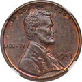 Lincoln Cents, 1943 CENT Struck on a Bronze Planchet MS61 Brown NGC....