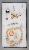 Estate Jewelry:Other , Nine Pieces of Costume Jewelry. (various dimensions and makers).Property from the Estate of Charles Schalebaum. ... (Total: 9Items)