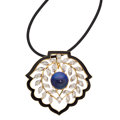 Estate Jewelry:Pendants and Lockets, Black Opal, Diamond, Enamel, Gold Pendant. ...